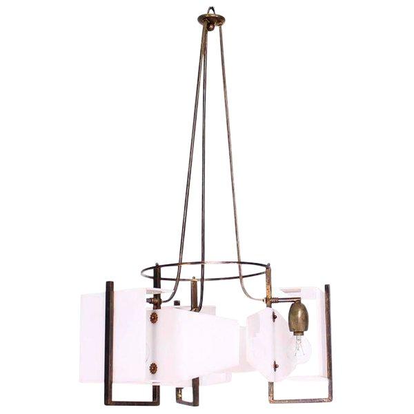 Italian Modernist Chandelier For Sale