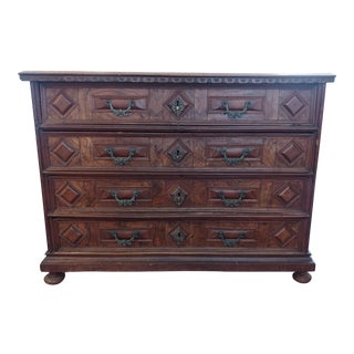 "17th Century ""Cantarano Bugnato"" Chest of Drawers For Sale"