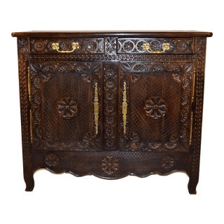 19th Century French Breton Cabinet For Sale