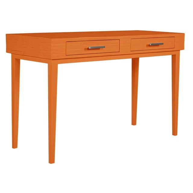 Orange Athena Desk in Citrus Orange For Sale - Image 8 of 8
