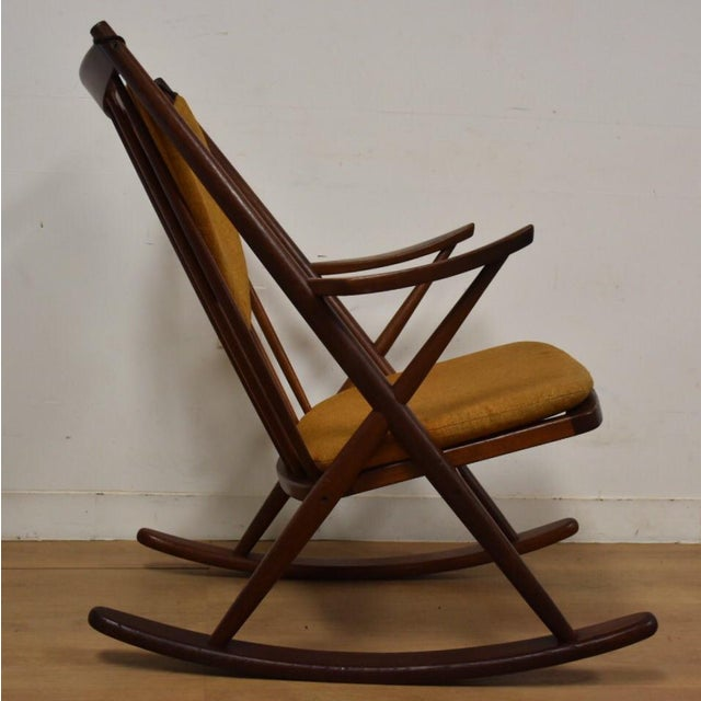 Mid-Century Modern Bramin Danish Rocking Chair For Sale - Image 3 of 11
