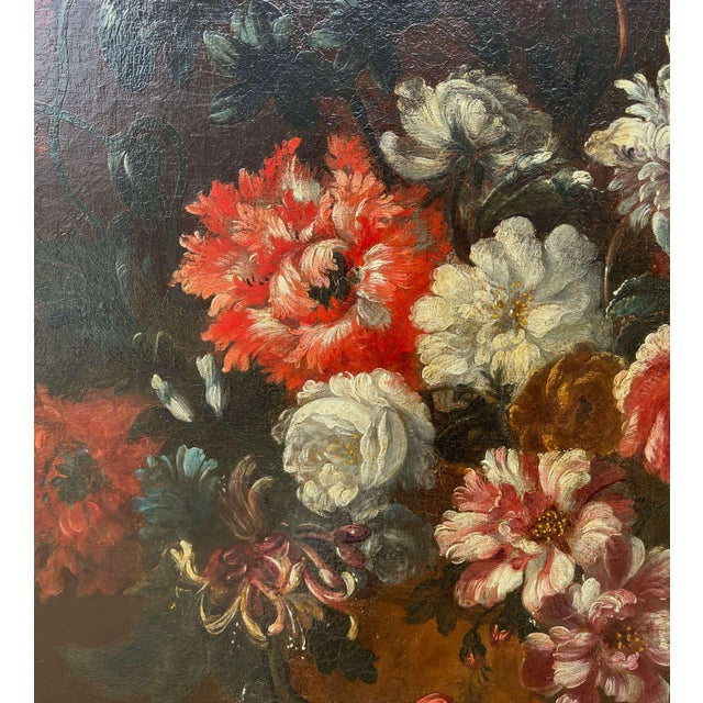 19th Century French Still Life Flower Oil Painting in Carved Gilt Frame For Sale - Image 10 of 13