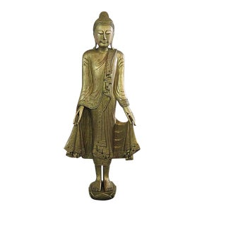 Large Antique Statue of a Tibetan Goddess For Sale