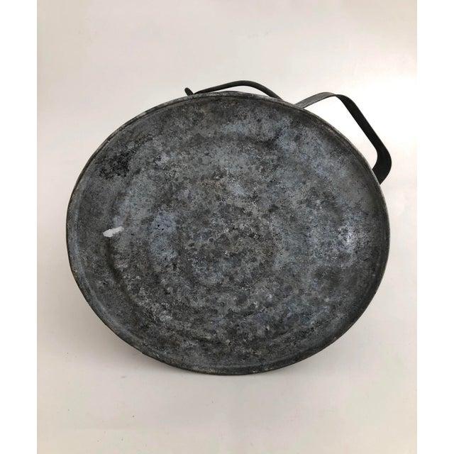 1930s Antique French Zinc Coal Scuttle/ Vase For Sale - Image 5 of 7