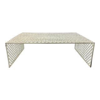 Interlude Home Modern White Metal Indoor/Outdoor Cocktail Table For Sale