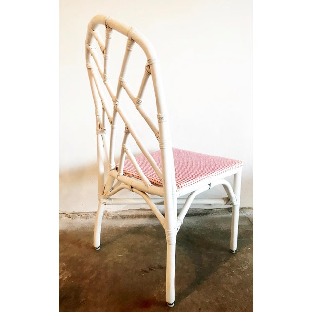 1960s Chippendale Rattan Chairs- Set of 6 For Sale In Chicago - Image 6 of 10