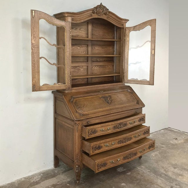 Antique Country French Secretary ~ Bookcase For Sale - Image 4 of 13