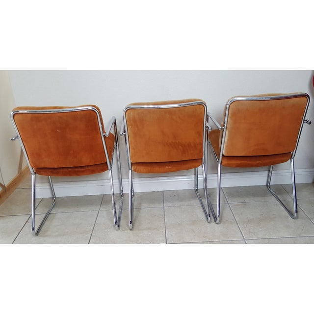 Vintage 1970s Mid Century Modern ChromeCraft Corp Chairs - Set of 3 For Sale - Image 10 of 13