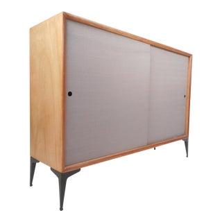 t.h. Robsjohn Gibbings for Widdicomb Sliding Door Cabinet