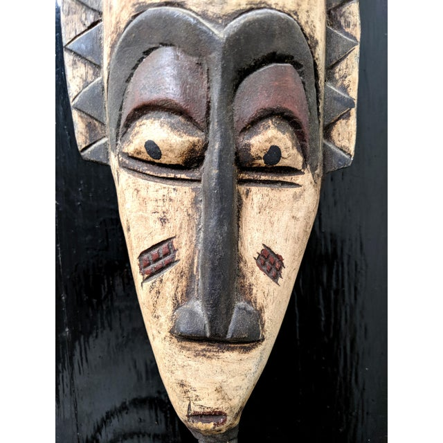 Late 20th Century Handcarved African Wooden Mask For Sale - Image 4 of 6