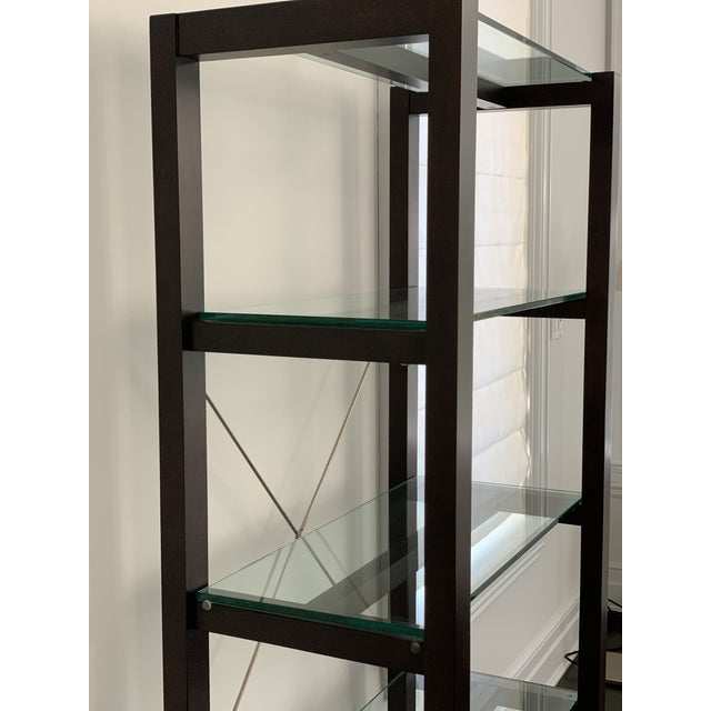 Wood Williams Sonoma Home Glass Bookcase For Sale - Image 7 of 10