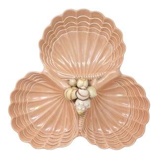 Vintage Ceramic Seashells Serving Platter For Sale