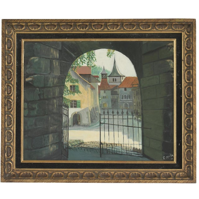 'Valangin Switzerland' Signed Oil Painting - Image 1 of 8