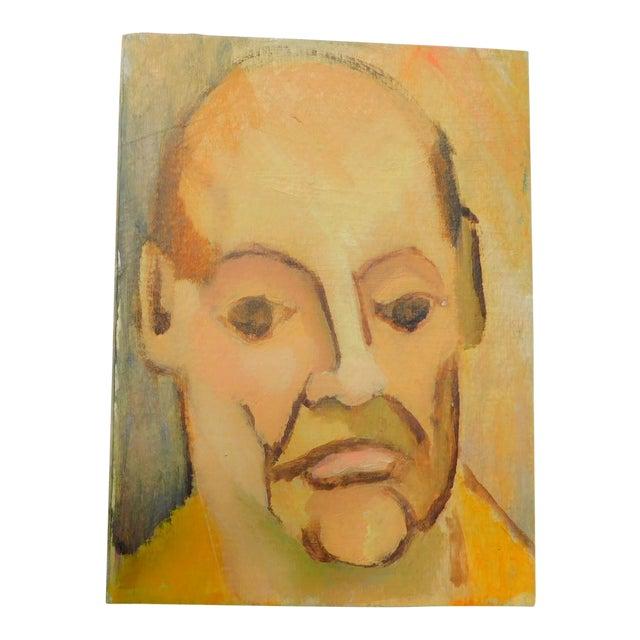 Monsieur Vintage Oil Portrait Painting For Sale