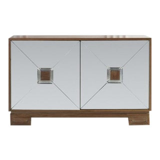Bleached Mahogany Mirrored Sideboard Attributed to Tommi Parzinger For Sale
