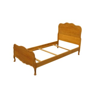 Late 20th Century Landstrom Furniture Solid Birch Country French Style Twin Size Bed For Sale