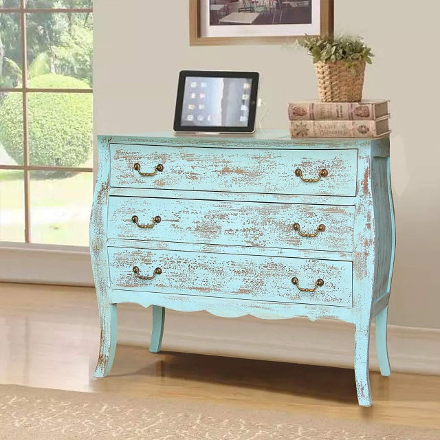 Rustic Gilbert Three Drawer Wooden Chest For Sale In Dallas - Image 6 of 7