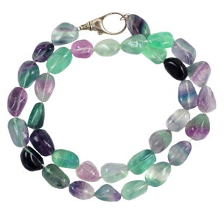 Aqua, Lavender, Clear Stone Necklace For Sale