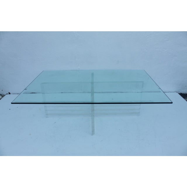 Vintage Lucite Coffee Table - Image 3 of 8