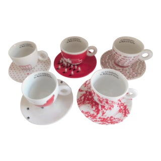 illy Espresso Sets Art Collection Robert Wilson Watermill Center - Set of Five For Sale