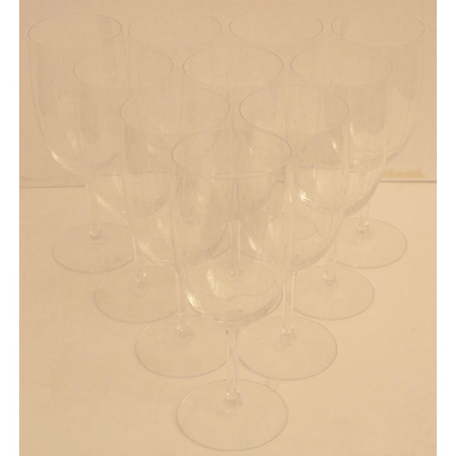 Etched Crystal Wine Glasses From Sweden - Set of 12 - Image 3 of 8