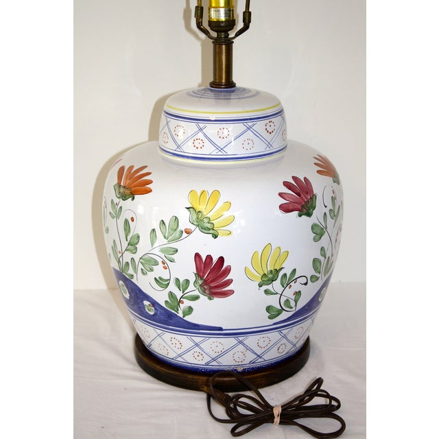 Frederick Cooper Hand-Painted Italian Lamp - Image 8 of 8
