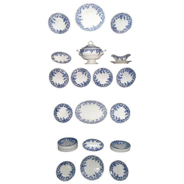 45 Piece Set of Blue and White Creil et Montereau - Image 1 of 6