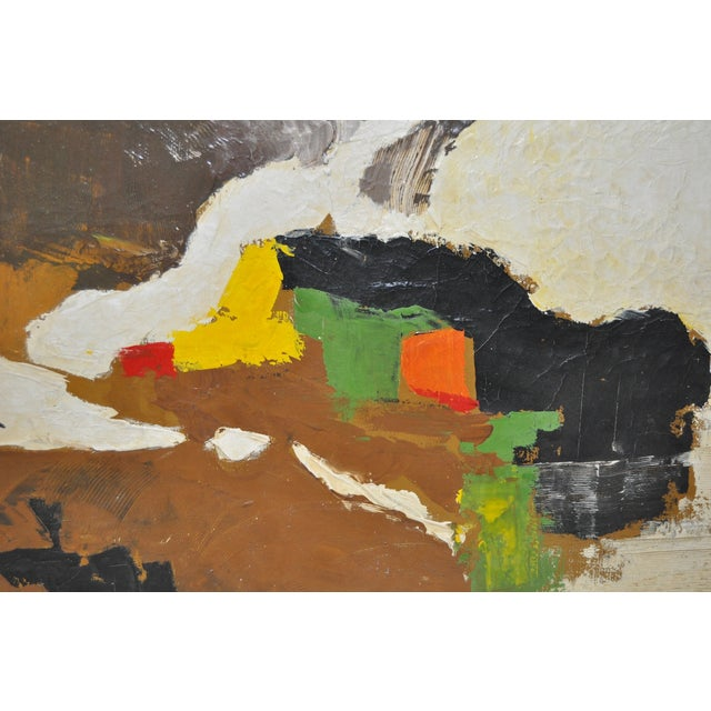 Carlo of Hollywood Vintage Abstract Painting 1960s - Image 4 of 7