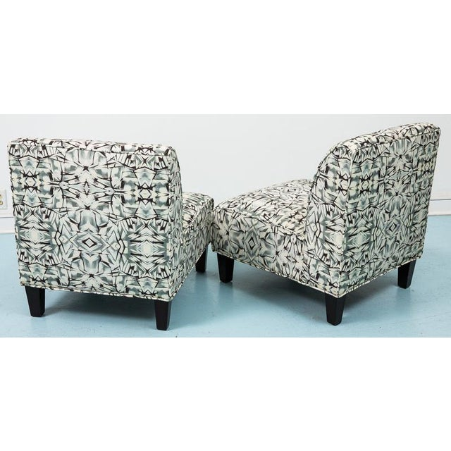 Modern Slipper Chairs - Pair - Image 4 of 5
