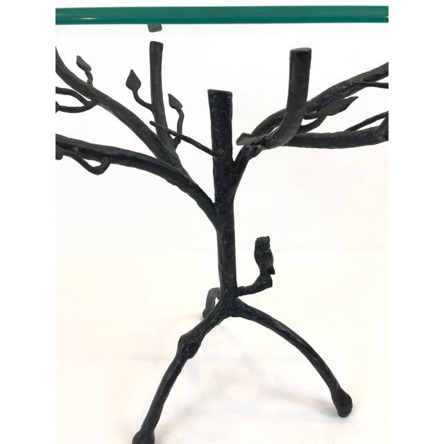 1990s Giacometti Style Iron Based Side Table For Sale - Image 5 of 7