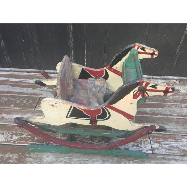 Late 1800s Victorian Double Rocking Horse For Sale - Image 5 of 11