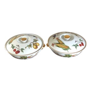Royal Worcester Covered Casserole - A Pair For Sale