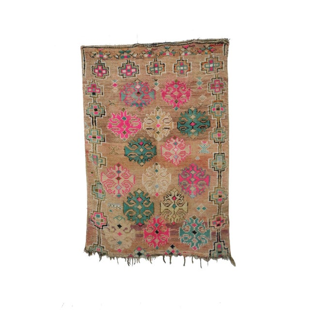 1970s Moroccan Boujad Rug - 4'7 X 6'5 For Sale - Image 6 of 6