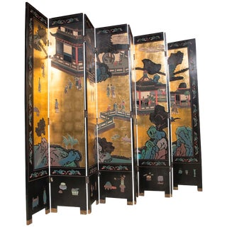 Large 8-Panel Coromandel Screen For Sale