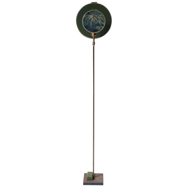 Gold Circle Blue Grey, Floor Lamp by Sander Bottinga For Sale - Image 8 of 8