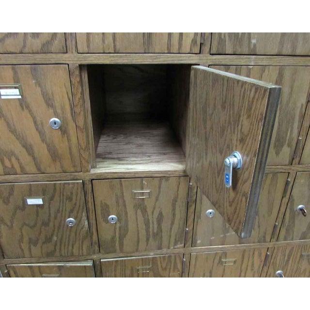 Antique Wooden Locker Unit For Sale - Image 4 of 10