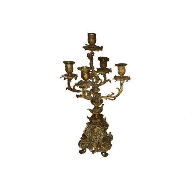 Mid 19th Century French Bronze Antique Candelabra - a Pair For Sale - Image 5 of 9
