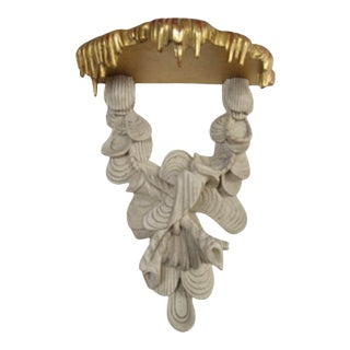 Early Rococo Style Carved Painted and Giltwood Bracket - Dessin Fournir For Sale