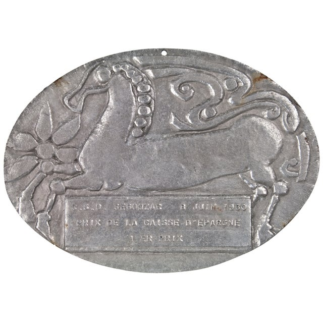 French 1980 Horse Show Award Plaque - Image 1 of 2