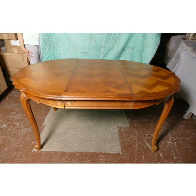 French Cherry Draw-Leaf Table - Image 4 of 6