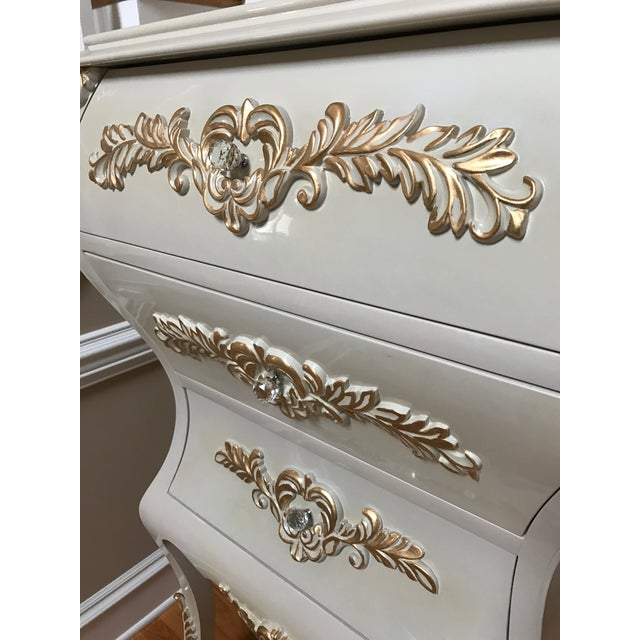 Neoclassical Gold Leaf Accent Chest of Drawers - Image 7 of 7