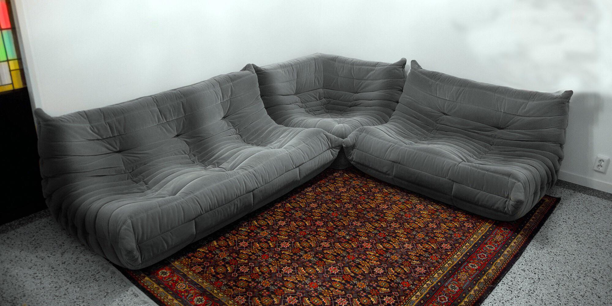 Gorgeous Togo Sectional Set , 1 3 Seater Sofa, 1 Seater Love Seat,. Michel  Ducaroy For Ligne Roset ...