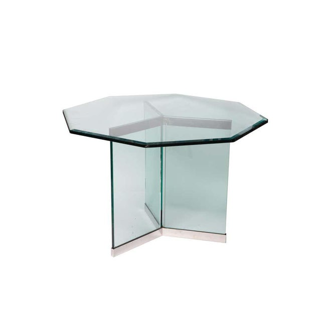 Pace Leon Rosen Classic Design Chrome Base Dining Table for Pace Collection For Sale - Image 4 of 8