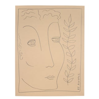 "Minimalist Drawing, ""Juno"" by Robert Alvarez For Sale"