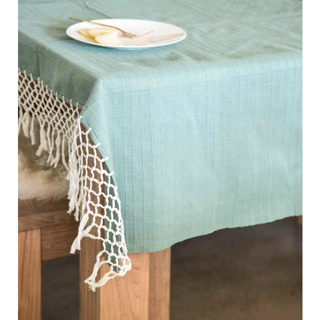 Sage Green Mexican Throw - Image 2 of 5