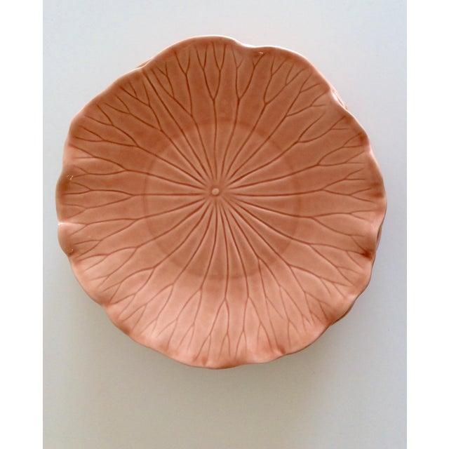 Pink Hued Metlox Lotus Dinner Plates - Set of 4 For Sale - Image 4 of 6