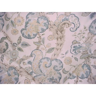 4y Scalamandre 16136-002 Baroque Floral Canvas Linen Drapery Upholstery Fabric For Sale