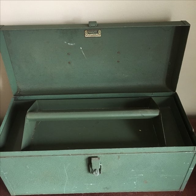 Vintage Green Kennedy Tool Box For Sale In New York - Image 6 of 11