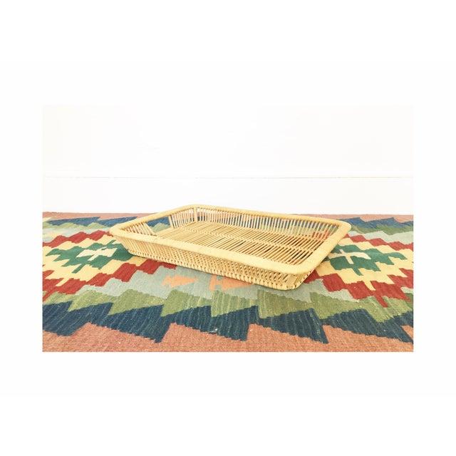 Boho Chic Vintage Rattan Tray - Image 2 of 6