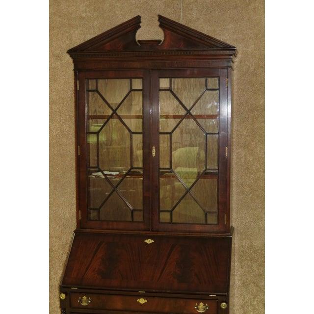 1980s Regency Style Secretary Desk For Sale In Philadelphia - Image 6 of 12